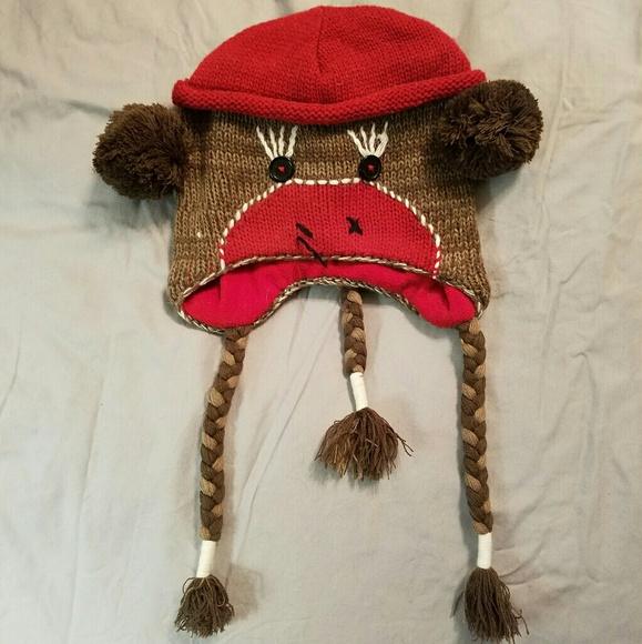 5f15d2517cafa Sock Monkey Winter Hat. M 5aa32f9446aa7cb89d60751e
